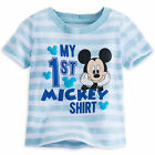 "Disney Store ""My First"" Mickey Mouse T Shirt Tee Boys Size 3 6 9 12 Months NWT"