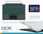 Backlit Bluetooth Keyboard for Surface Pro 3, Surface Pro 4 w 7 color Backlight