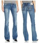 NEW TRUE RELIGION BRAND LOW RISE JOEY VINTAGE DISTRESSED FLARE  JEANS PANTS