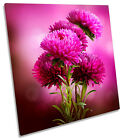 Flower Floral Pink CANVAS WALL ART SQUARE Picture Print