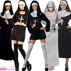 WOMEN ADULT SEXY GOTHIC NUN MOTHER SUPERIOR LADIES HALLOWEEN FANCY DRESS COSTUME