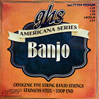 CORDES GHS 5 STRINGS BANJO MEDIUM American serie Acier Inox Boucle-LoopEnd PF200