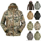 MENS WATERPROOF OUTDOOR CAMO JACKET COAT ARMY HIKING SPORTS HUNTING OUTWEAR TOPS