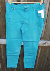KENNETH COLE BLUE COLORED SLIM SKINNY COTTON SPANDEX MID-RISE JEANS 20W - 31 NEW