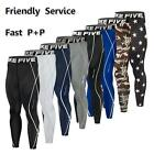 Mens Baselayer Long Pants Armour Compression Tights Trousers Gym Apparel Running