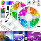 32.8FT 10M RGB Waterproof 300 SMD LED Strip Light 44 Key Remote 12V DC Power Kit