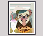 Art Print Dog Pug Breed Puppy Poster Painting Print Animal Dog Wall Decor New