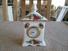 ROYAL ALBERT OLD COUNTRY ROSES MANTLE CLOCK (WORKING)