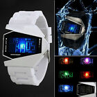 Fashion Luxury Men's Sport Black Stainless Steel Digital LED Wrist DIAL Watch
