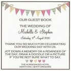 1 Handmade Personalised Bunting/Hearts Wedding Guest Book Sign *CS1*