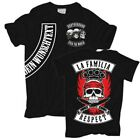 T-Shirt La Familia RESPECT WUNSCH TEXT Hardcore Brotherhood crime Tattoo Label