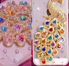 Bling Jewelled Diamond Rhinestone Clear Transparent Peacock Case iPhone 5 5S SE