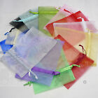 100 Organza Bags 12 x 17cm 23 Colours Wedding Favours Jewellery Low Price.