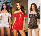 Party Lace Black/White/Red Womens Dress NEW HOT Sexy Lingerie 3 Colors