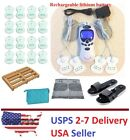 TENS Unit Tens Massager Digital Therapy Acupuncture Pads Machine White- Knee IV