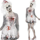 Zombie Georgian Costume – Halloween Womens Fancy Dress White Undead Historical