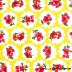 Lemon Roses 100% Cotton Fabric