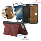 For iPhone 6 6S Plus Case Pierre Cardin Genuine Leather Card Slot Stand Cover
