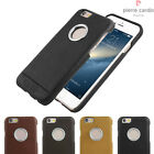Pierre Cardin Genuine Leather Ultra-thin Hole Logo Case  For iPhone 6 / 6s Plus