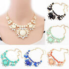 2016 Charm Chunky Crystal Statement Bib Chain Choker Pendant Necklace Jewelry