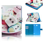 Cute PU Leather Rotary Smart Folio Stand Case Cover Skin For iPad Samsung Tablet