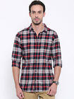 Being Human Clothing Men Navy Blue Slim Fit Checked Casual Shirt BHMLS6817