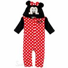 Disney Minnie Mouse Baby Girl's All in One Romper Jumpsuit Coral Fleece Onesie