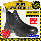 Wide Load Work Boots, PULL ON SOFT TOE BOOTS. Extra Wide Comfort  (Non-Safety)