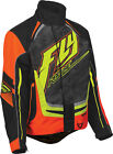 Fly Racing SNX Pro Orange Black Cold Weather Snowmobile Snocross Riding Jacket