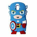 3D Cute Cartoon Super Hero Silicone Case Cover For Samsung Galaxy iPhone 6 6S 7