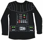 Star Wars Long Sleeve Mens T-Shirt - Darth Vader Costume Style Front Image
