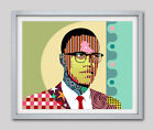 X Malcolm Poster Print Rights Civil Art Black African American Activist Painting