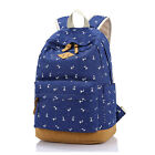 High School Student Teen Girls Big Laptop Bag Canvas Schoolbag Travel Backpack
