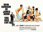 YOU ONLY LIVE TWICE JAMES BOND Movie Poster [Various Sizes] $21.45 CAD on eBay