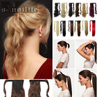 Drawstring Ponytail Piece Clip in on Pony Tail Hair Extensions Human Made HG71