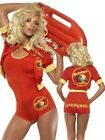 Ladies Sexy Baywatch Playsuit Lifeguard TV Fancy Dress Costume Outfit UK 8-14