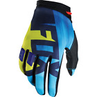 Gants Motocross Fox Dirtpaw Vandal Bleu Jaune Moto BMX Downhill Gloves Enduro