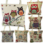 Cute Owl New Tapestry Tote Bag Women Floral Purse Shopping Large Handbag