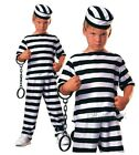 Boys PRISONER BOY Convict Rebel Kids Fancy Dress Costume Age 3-10