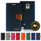 For Samsung Galaxy Note Edge GOOSPERY® Canvas Diary Media Flip Stand Wallet Case