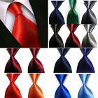 Men's New Classic Solid 100% Silk JACQUARD WOVEN New Tie Necktie 14 Colors V4