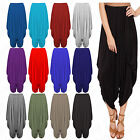 Women's Ladies Hareem Baggy Ali Baba Pants Stretch Trousers Leggings 8-26