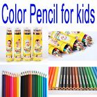 12 18 24 36 Color Set GENVANA Pencil Baby Children Drawing With Sharpener