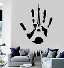 Vinyl Wall Decal Handprint Paris Eiffel Tower French Style S