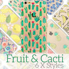 Cute Cactus Fruit Cartoon Doodle Case for iPhone Ultra Thin Soft Skin Cover