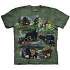 Brown Black Bear Cubs Grizzly T Shirt The Mountain Bear Collage Tee S- 4XL 5XL  image