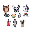 Cartoon Embroidery Brooches Pin Women Clothes Accessories Rainbow Animals Fabric $1.17  on eBay