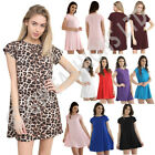 LALADIES WOMEN  GIRLS **CAP ** SLEEVE SWING DRESS TOP PLAIN SKATER DRESSES  TOPS