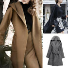 NEW Winter Womens Long Coat Hooded Parka Jacket Cardigan Overcoat Outwear