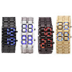 Women Men Volcanic Lava Iron Samurai Metal Faceless Bracelet LED Wrist Watch U.S
